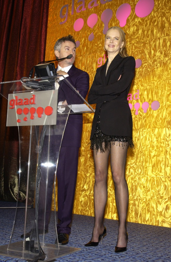 * EXCLUSIVE *  Baz Luhrmann and Nicole Kidman The 14th Annual GLAAD Media Awards New York - Show Marriott Marquis New York City, New York United States April 7, 2003 Photo by Larry Busacca/WireImage.com To license this image (1016958), contact WireImage: U.S. +1-212-686-8900 / U.K. +44-207-868-8940 / Australia +61-2-8262-9222 / Germany +49-40-320-05521 / Japan: +81-3-5464-7020 +1 212-686-8901 (fax) info@wireimage.com (e-mail) www.wireimage.com (web site)